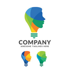 Intelligent person logo vector