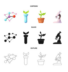 isolated object of and icon collection of vector image