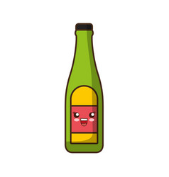 Kawaii bottle icon vector