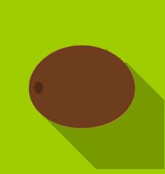 Kiwi icon flat singe fruit icon vector