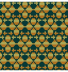 knitting fabric vector image vector image