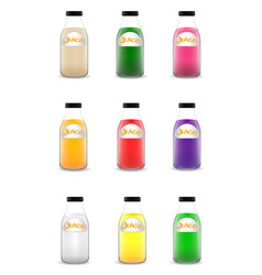 many bottle of juice vector image