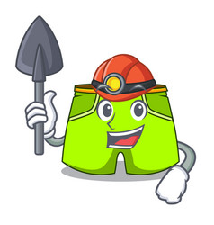 Miner cartoon shorts style for the swimming vector