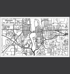 olympia washington usa city map in retro style vector image