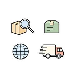 parcel delivery service vector image