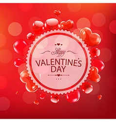 Red Happy Valentines Day Card vector image