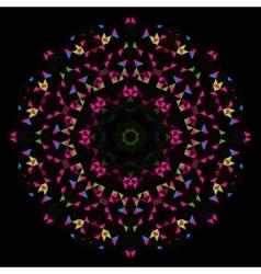 Round Flower Ornament vector