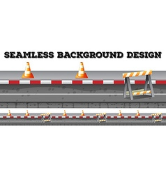 Seamless construction along the road vector image