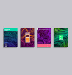 set cover design with abstract liquid lines vector image