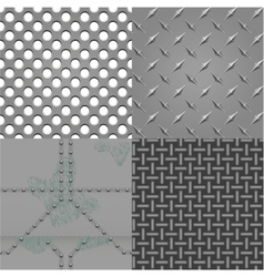 Set of metal textures vector