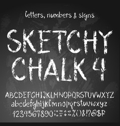 sketchy english alphabet vector image