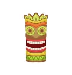 Smiling Totem Hawaiian Vacation Classic Symbol vector