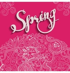 Spring and Round Border Pink vector