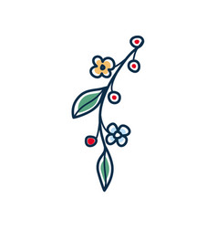 summer and spring twig with flowers vector image