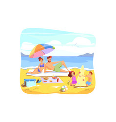 summer vacation rest family holiday concept vector image