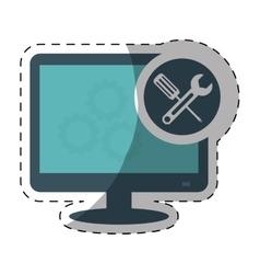 Technical service computers icon vector