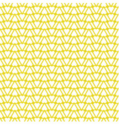 tile pattern with yellow triangles background vector image