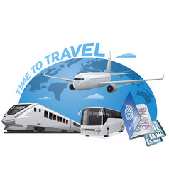 travel and transport vector image