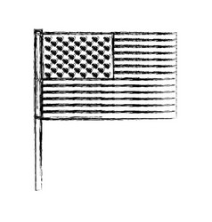 united states flag monochrome blurred silhouette vector image