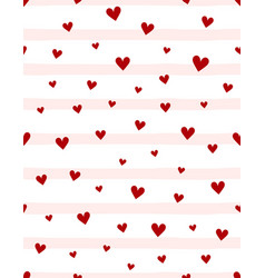 valentines pattern with cute hearts vector image