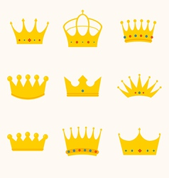 vintage antique crowns vector image