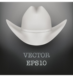 White cowboy hat background vector image