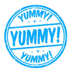 Yummy sign or stamp vector