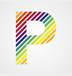 Alphabet Letter P vector image vector image