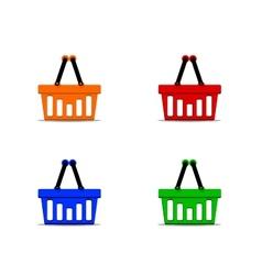 Basket set vector image