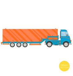 cartoon transport semi-trailer truck vector image