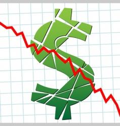 finance chart vector image vector image