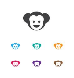 of zoology symbol on monkey vector image vector image