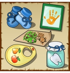 Accessories of the children set of five items vector image vector image