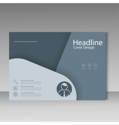 Brochure template cover material design vector image