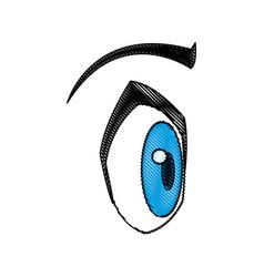 cartoon eye expression emotion image vector image vector image