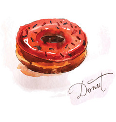 donut of red color vector image