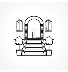 Line icon for front door vector image vector image
