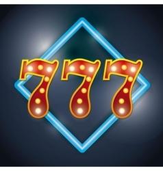Notice spectacular casino icon vector image