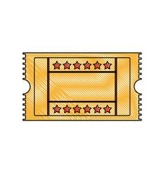 cinema ticket movie entertainment show vector image