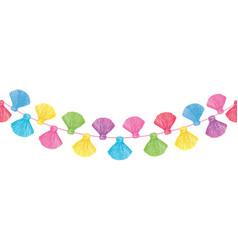 Colorful decorative tassels set horizontal vector