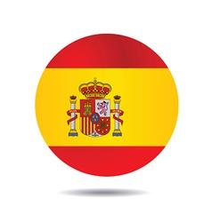 Flag icon button vector image