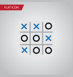 isolated tic-tac-toe flat icon x-o element vector image vector image