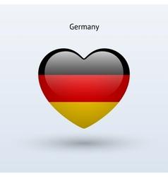 Love Germany symbol Heart flag icon vector image