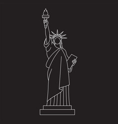 statue of liberty line icon vector image vector image