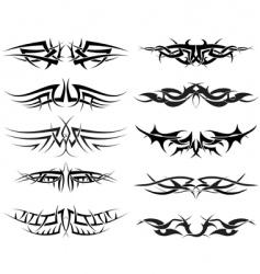 tattoos set vector image vector image