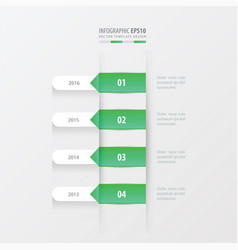 Timeline template green gradient color vector