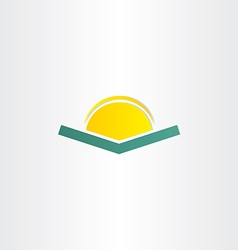 book and sun simple icon vector image vector image