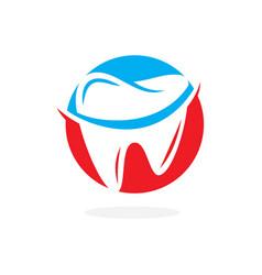 dentistry odontology stomatology logo vector image