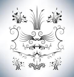 Elegant floral designs vector image vector image