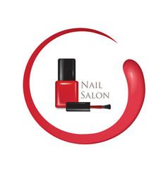 nail beauty salon background manicure nail polish vector image vector image